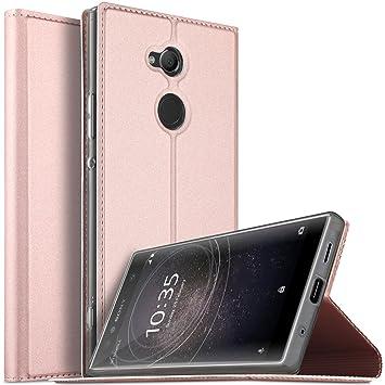 BoseWek Sony Xperia XA2 Ultra Funda, Flip Cover Carcasa Cubierta de Cuero PU Multi-Angle Shockproof Duradera Protectora de Carcasa con Soporte ...