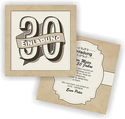 Admirable Invitation Rétro 148 x 148 mm L Cartes d'invitation anniversaire TX-78