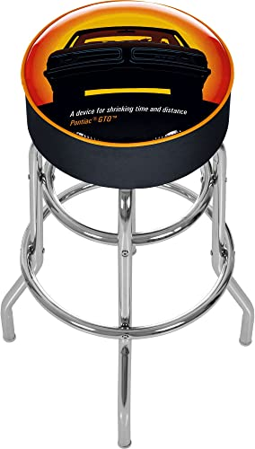 Pontiac GTO Time Distance Padded Swivel Bar Stool