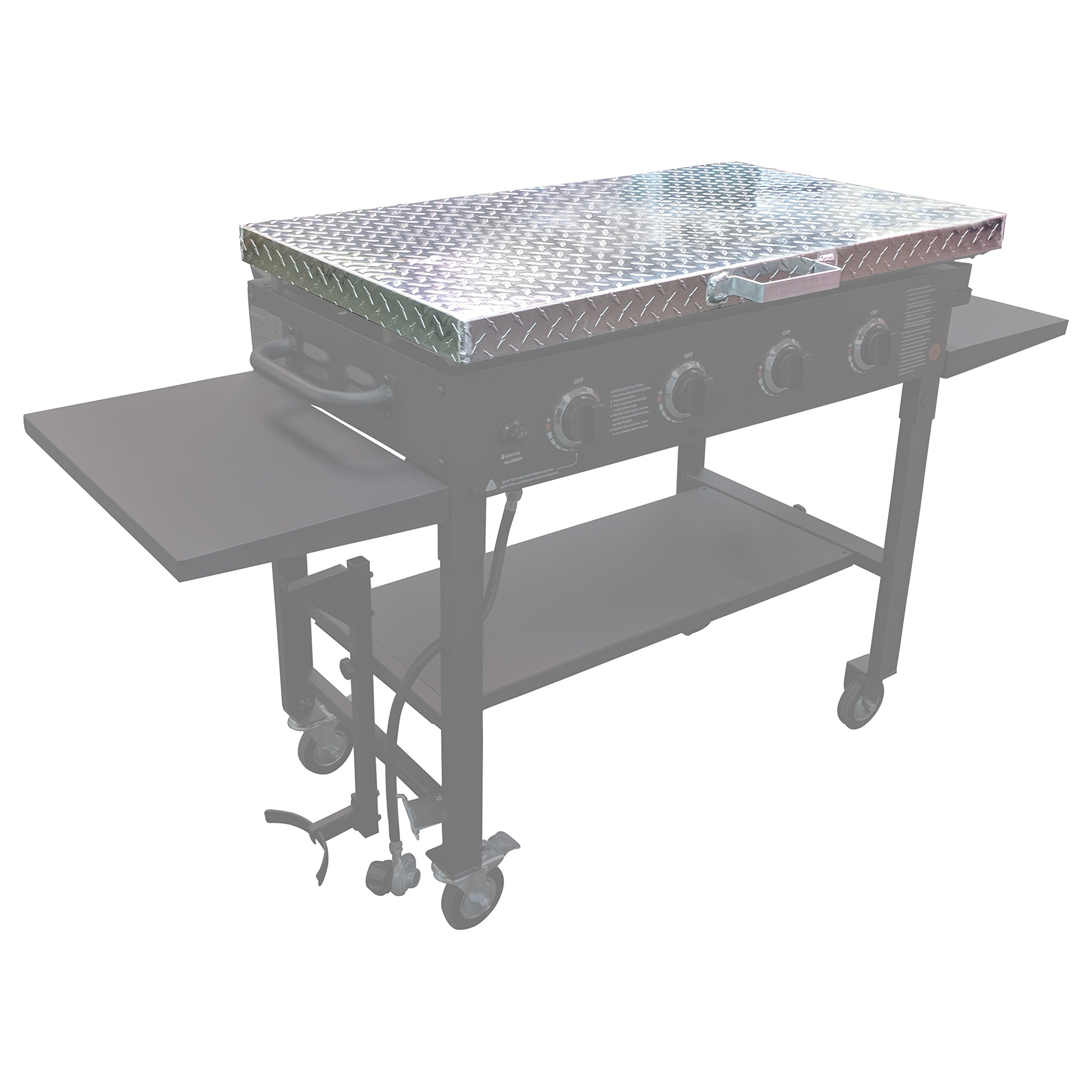 Titan Diamond Plated Aluminum Grill Cover Fits 36'' Blackstone Griddle by Titan Great Outdoors