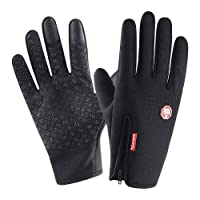 anqier Warm Touch Screen Gloves - Cold Weather Waterproof Windproof Anti-skid Outdoor Texting Running Climbing Cycling Gloves for Men Women.