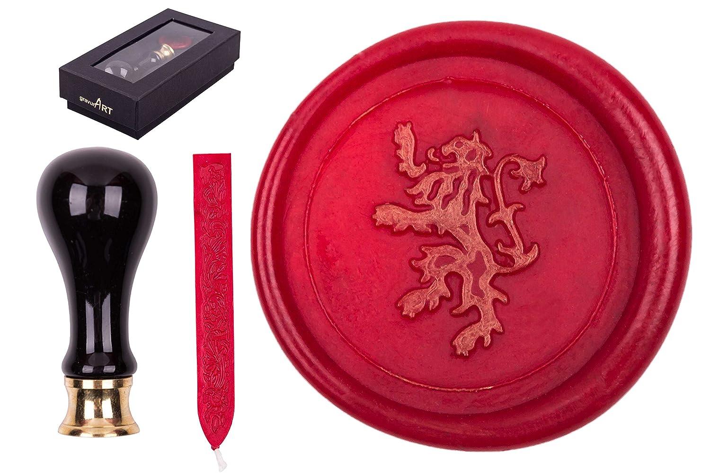 Siegel Set Rimini Siegelstempel Symbol Schneemann 1 Stange Siegelwachs incl