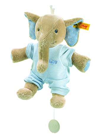 Amazon Com Trampili Elephant Music Box Blue Toys Games Stuffed