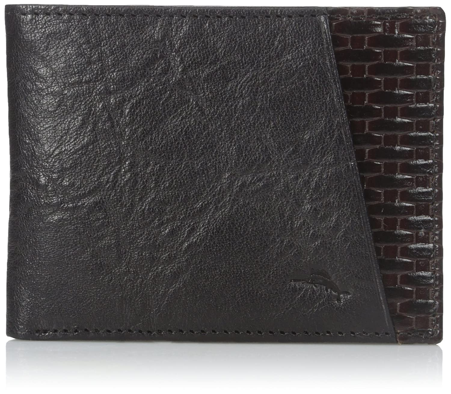 Tommy Bahama Men s Milled Leather and Basket Weave Slimfold 331afd86101b7