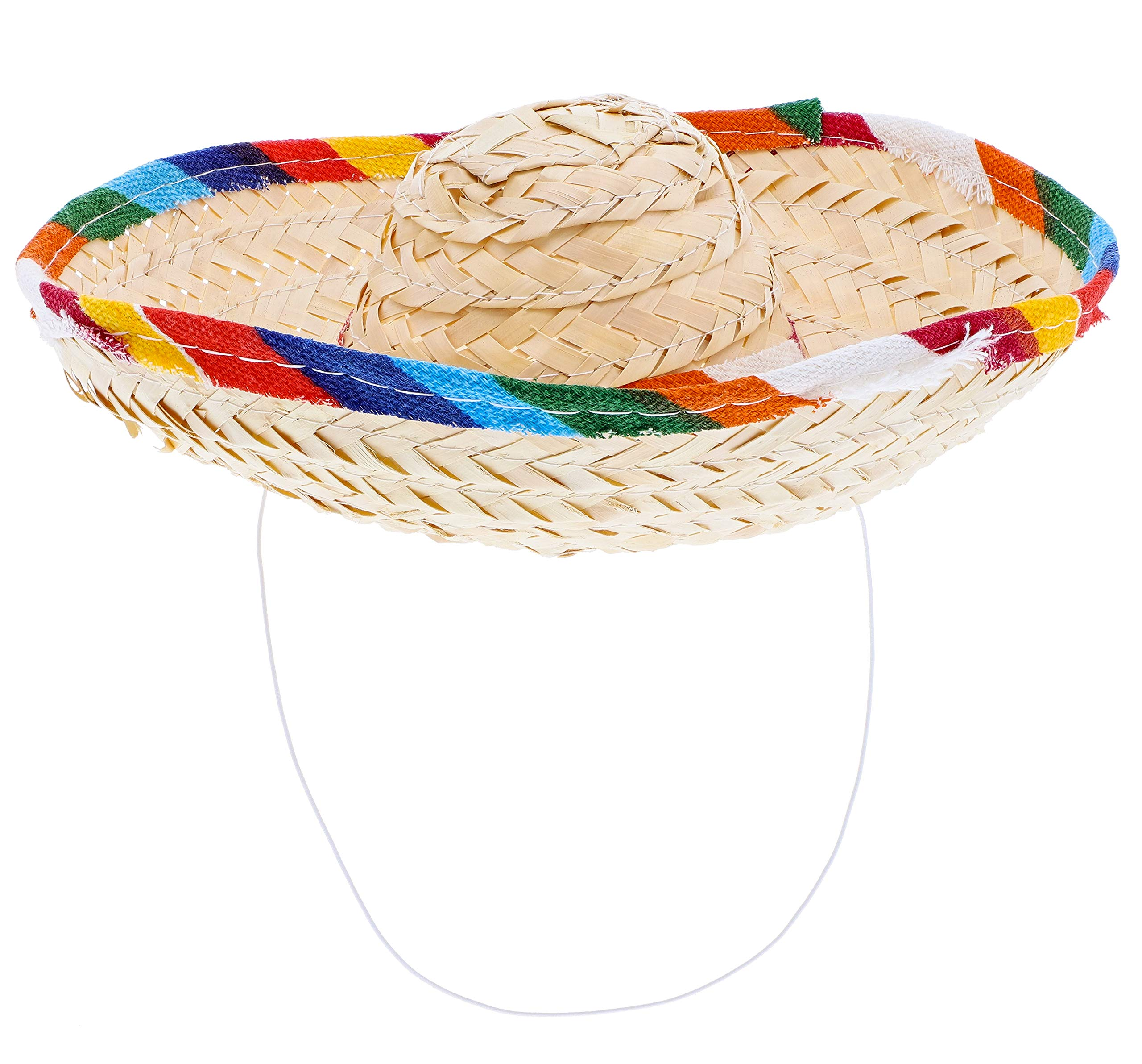 Juvale 12 Pack Mini Mexican Straw Sombrero Fiesta Party Hats for Cinco de Mayo Party Supplies, 3 x 8 Inches