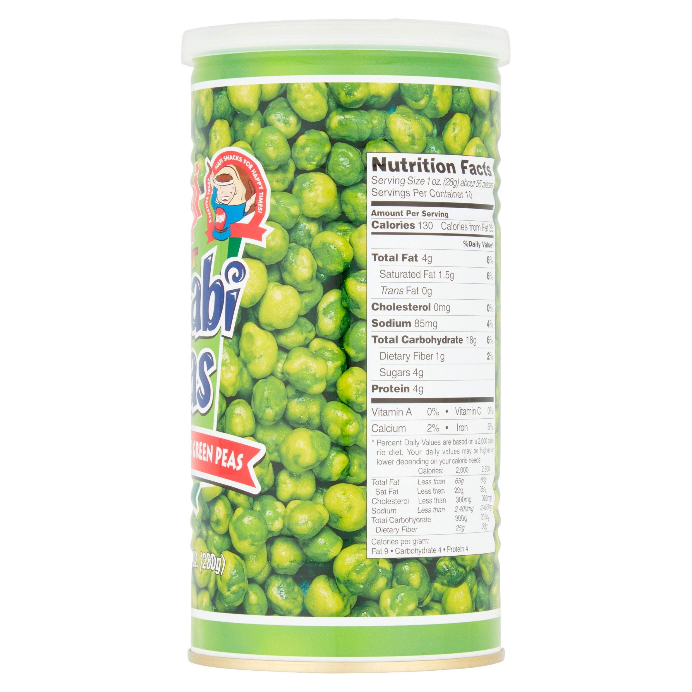 Hapi Snacks Hot Wasabi Peas 9.90oz - 3 Pack by HAPI (Image #1)