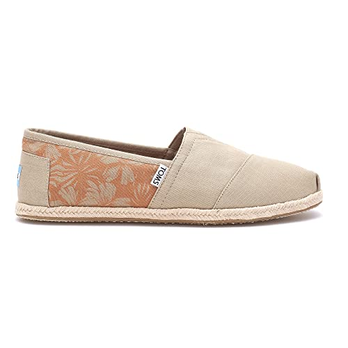 cf3c5e6ced77 TOMS Classics Oxford Tan Canvas Hibiscus Rope Sole  Amazon.co.uk  Shoes    Bags