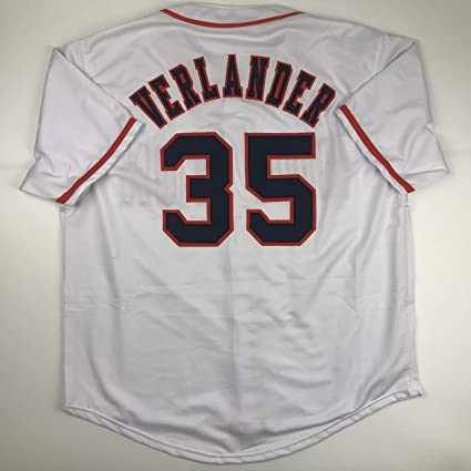 pretty nice 2a4aa b6bdf Unsigned Justin Verlander Houston White Custom Stitched ...
