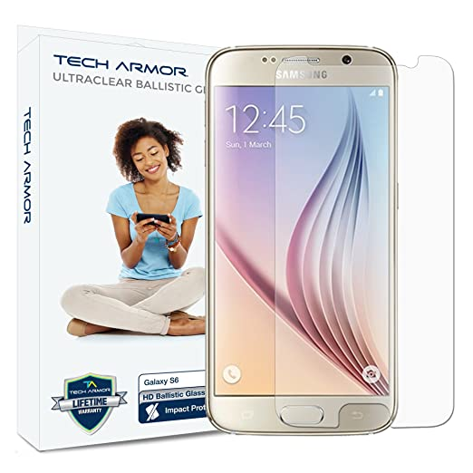 8 opinioni per Tech Armor SP-BG-SAM-GS6-1 Pellicola proteggischermo trasparente Galaxy S6