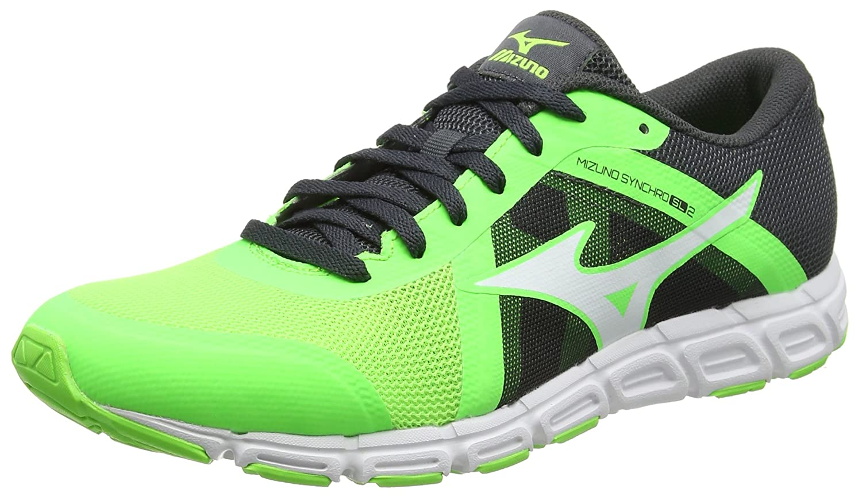 Mizuno Herren Synchro SL Joggingschuhe, Gruuml;n  44.5 EU|Mehrfarbig (Greengecko/White/Darkshadow 02)