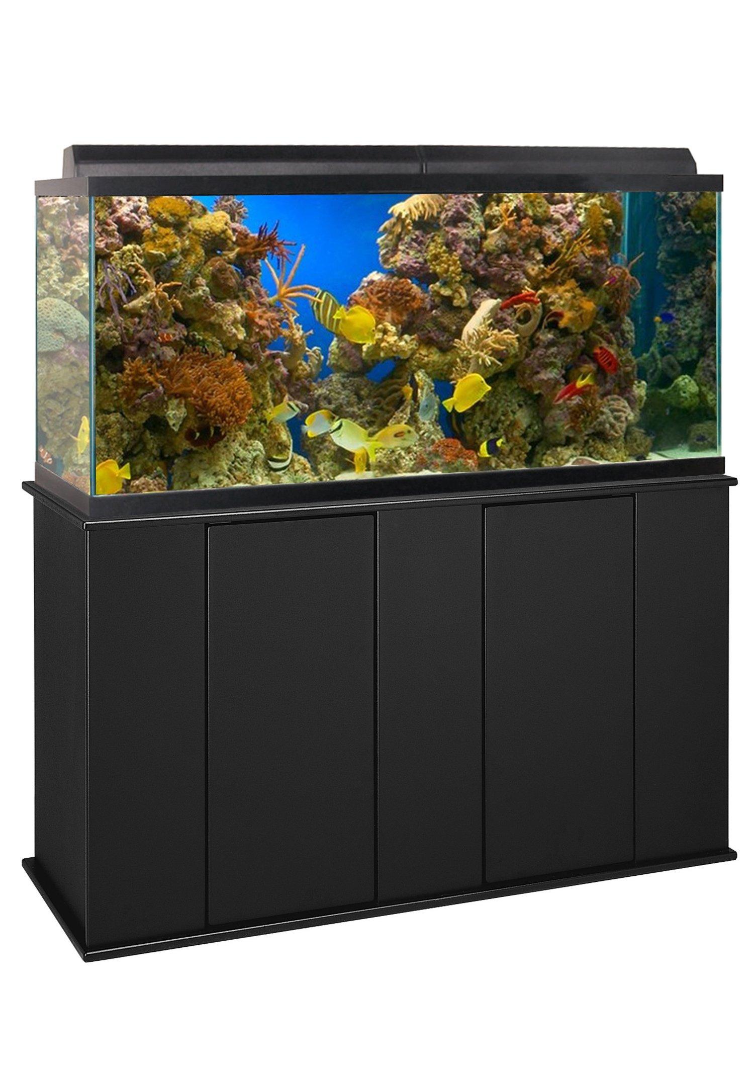 Aquatic Fundamentals 16551, 55 Gallon Upright Aquarium Stand, Black by Aquatic Fundamentals