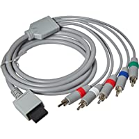 Insten Premium Component Audio Video Cable compatible with Nintendo Wii / Wii U to HDTV EDTV, 4.67 feet [Nintendo Wii]