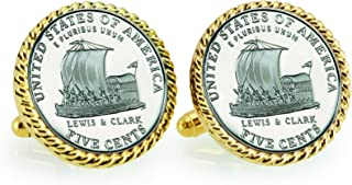 product image for American Coin Treasures 2004 Keelboat Rope Bezel Cuff Links