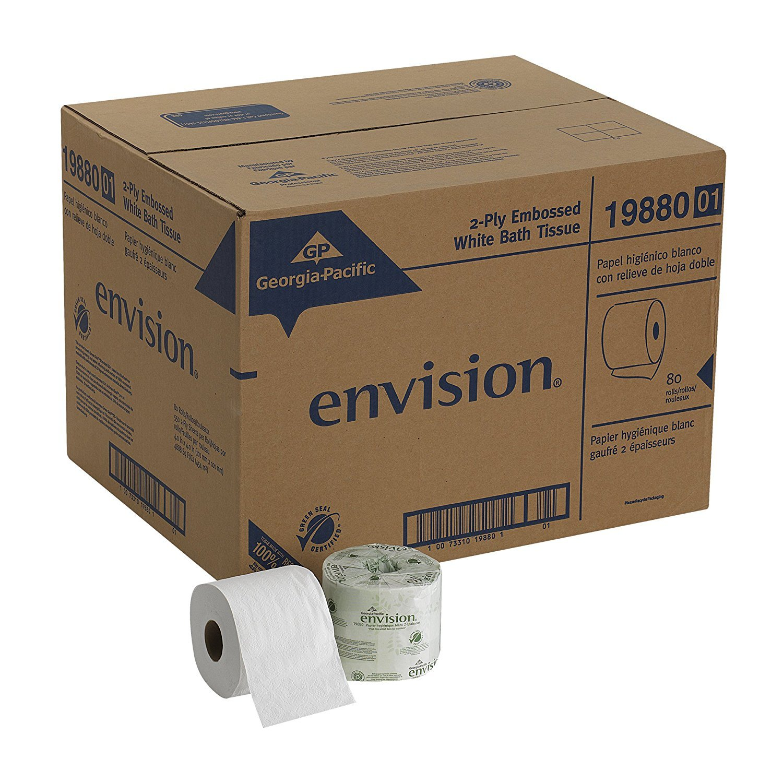 Georgia Pacific Professional 1988001 Bathroom Tissue, 550 Sheets Per Roll (Case of 80 rolls) (1-CASE)