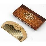 Wooden Comb Beard Moustache Baby Anti static Wide teeth Curly hair Men Women