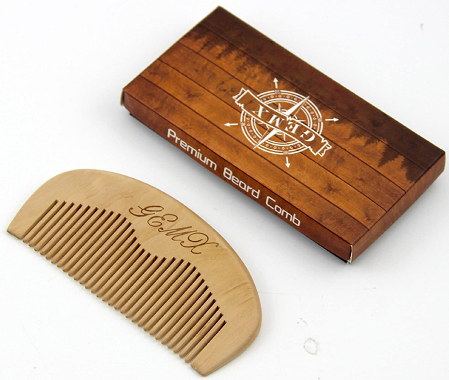 Beard Moustache Wooden Comb Baby Anti static Wide teeth Curly hair Men Women Gemx FL 01