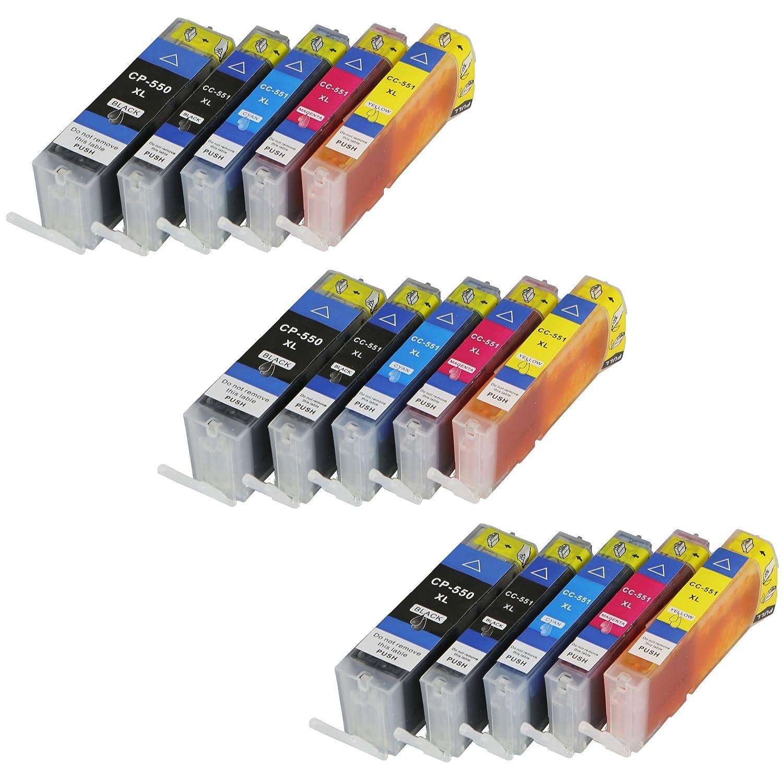 15 Cartuchos de impresora para Canon PGI550 X L CLI551 X L ...