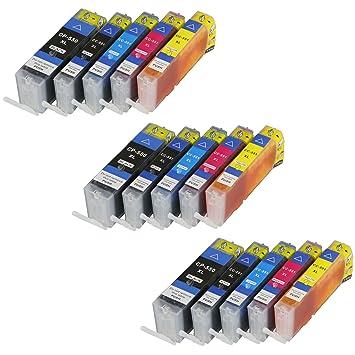 15 Cartuchos de impresora para Canon PGI550 X L CLI551 X L con ...