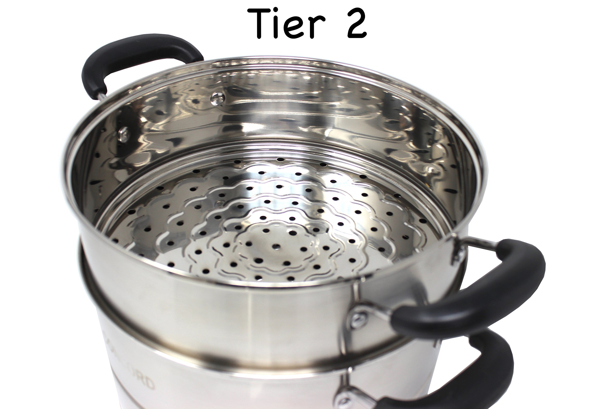 CONCORD 3 Tier Premium Stainless Steel Steamer Set (32 CM) by Concord Cookware (Image #5)