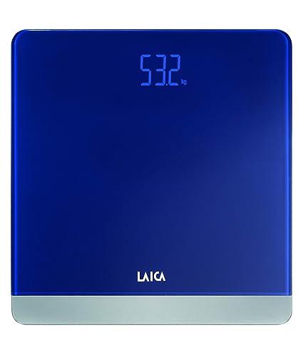 Laica Serie 4 - Bascula electrónica, color azul, 180 kg