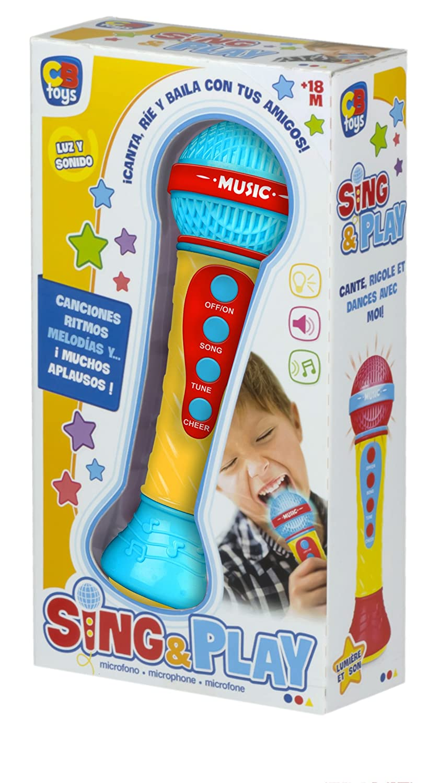 ColorBaby Micrófono electrónico con Canciones, ritmos y aplausos 43590: Amazon.es: Juguetes y juegos