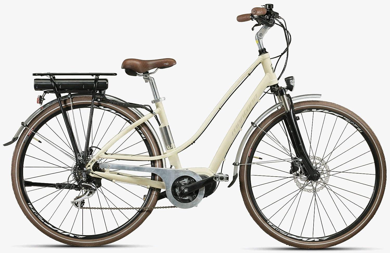 Montana E-Lunapiena - Bicicleta eléctrica para mujer, 28 pulgadas, color crema, tamaño del marco: 48 cm: Amazon.es: Deportes y aire libre