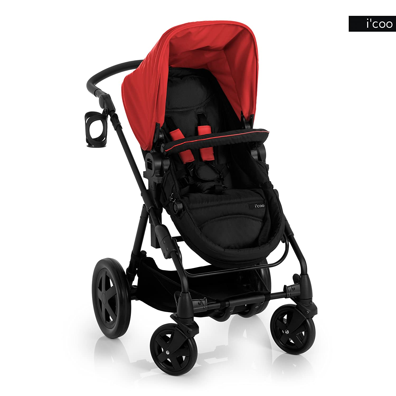 i coo Photon Stroller, Red Black, 0-48 Months