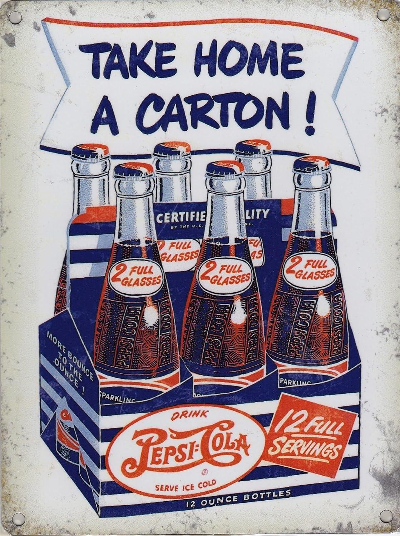 Cartel de Metal Original de Pepsi Cola con Texto en inglés ...
