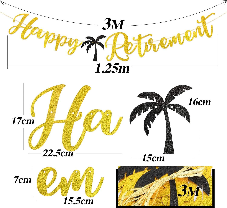BHGT Vive la Retraite Banni/ère Banderole Happy Retirement Guirlande D/écorations C/él/ébration Party F/ête