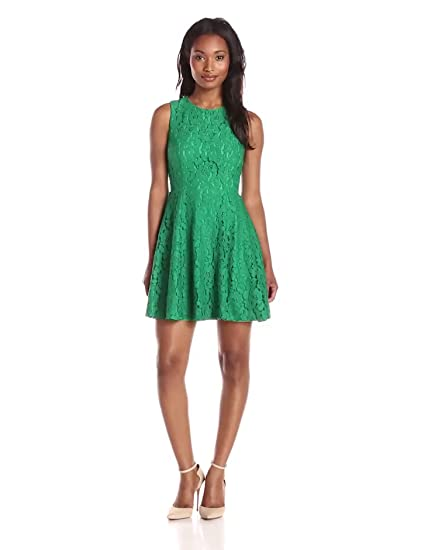 0ee62309af1e Minuet Women s Lace Skater Dress at Amazon Women s Clothing store