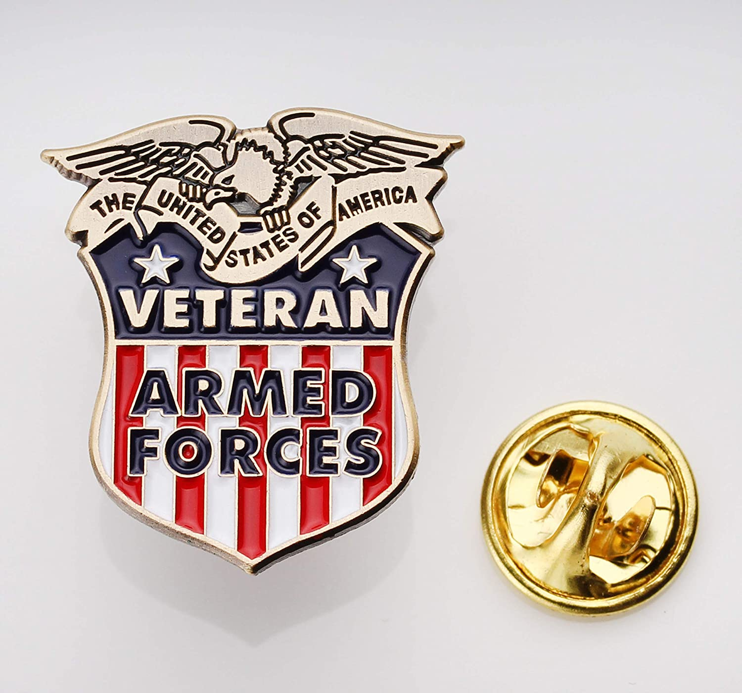 Navy Coast Guard Veterans Hat Pin USA Veteran Pins Officially Licensed Product Air Force Marine Corps Army Coins For Anything Inc Armed Forces Veteran Lapel Pin Vet Owned Company