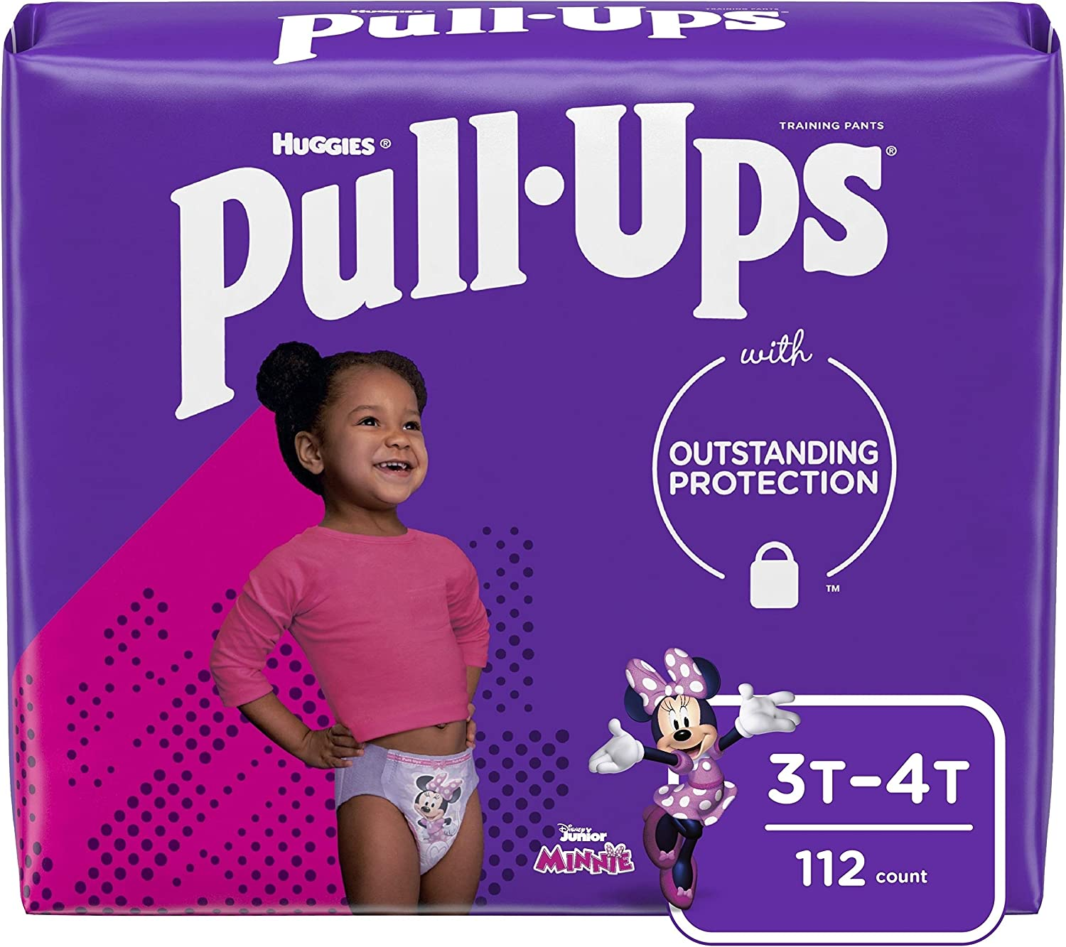 Pull-Ups Learning Designs Girls' Training Pants, 3T-4T, 112 Ct