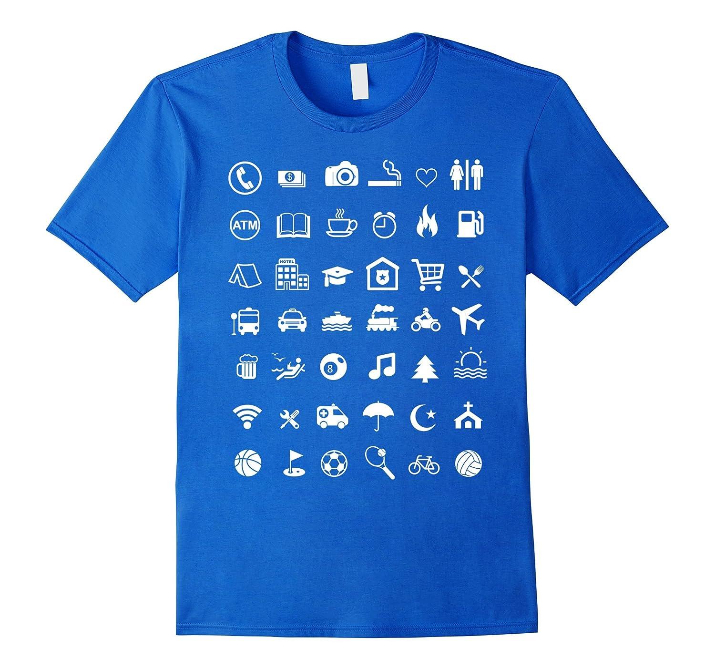 [42 Icon] Traveler Icons T-Shirt - Best Travel Guide TShirt-TH