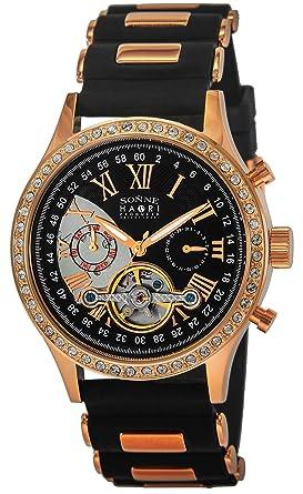 outlet store bd70b b43c7 Amazon | [SONNE]ゾンネ 腕時計 HAORI ブラック文字盤 自動巻 ...