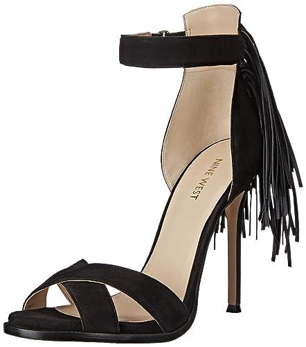 Nine West Women's Hustle Leather Heeled Sandal