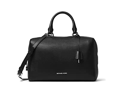 3277707b80c95a Image Unavailable. Image not available for. Color: MICHAEL Michael Kors  Kirby Large Satchel Black