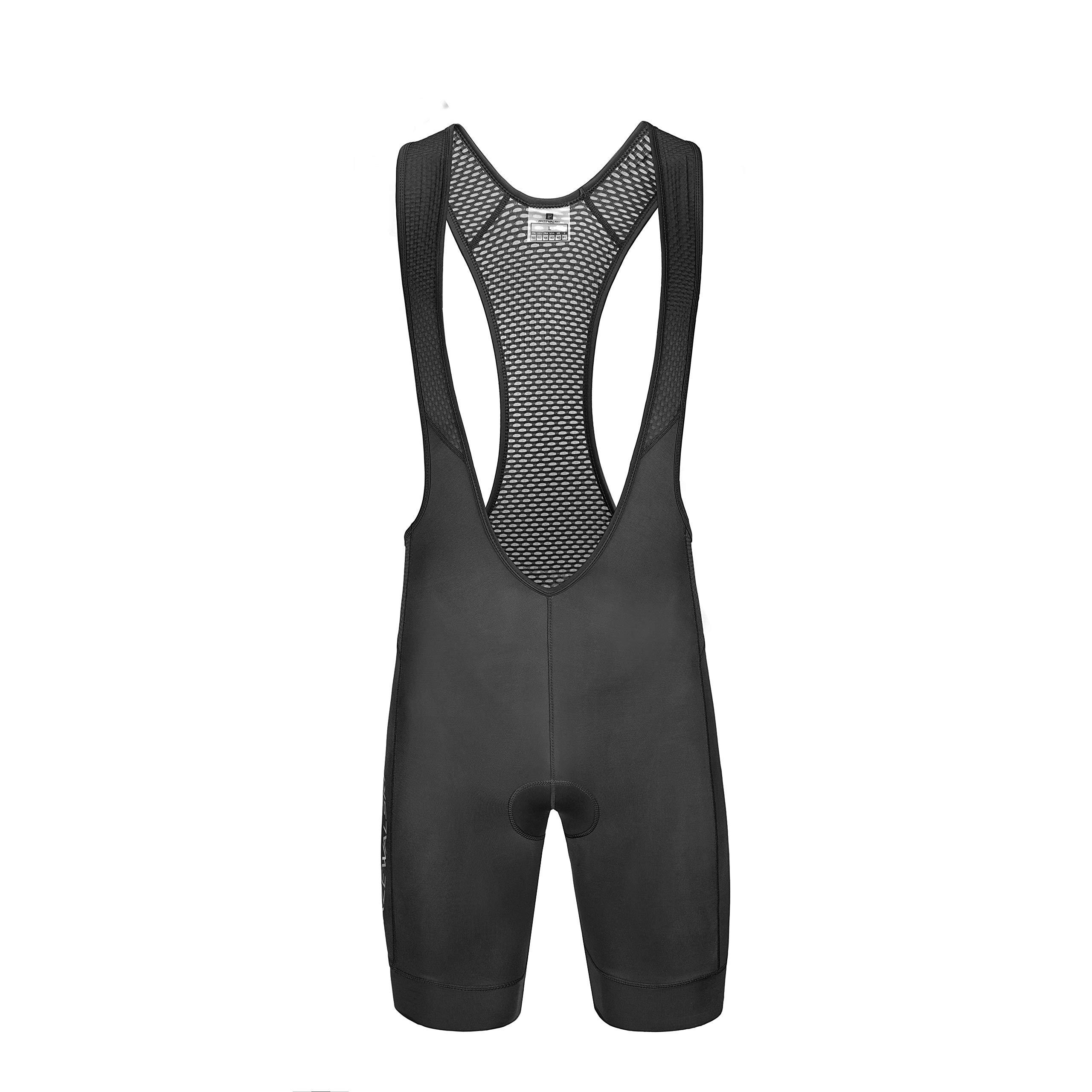 Przewalski Men's Cycling Bib Shorts, 4D Padded Compression Bike Tights Breathable Bicycle Pants UPF 50+, Classic Series, Black/XL by Przewalski (Image #3)