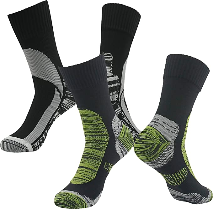 100/% Waterproof Hiking Socks SGS Certified RANDY SUN Mens Cold-weather Comfort Socks Grey/&Black Medium Rain Socks,