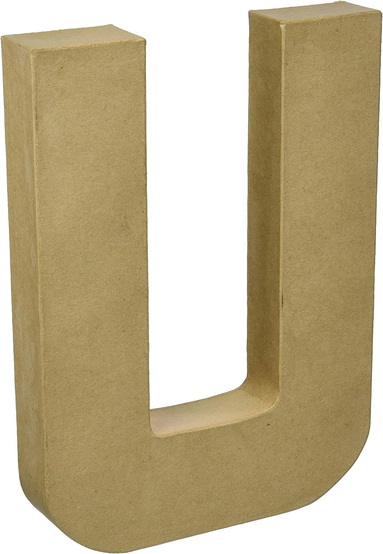 Darice 2861-U Paper Mache Letter 12Inx1.5In