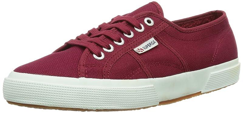 Superga 2750 Cotu Classic Sneakers Low-Top Unisex Damen Herren Weinrot (scarlet)