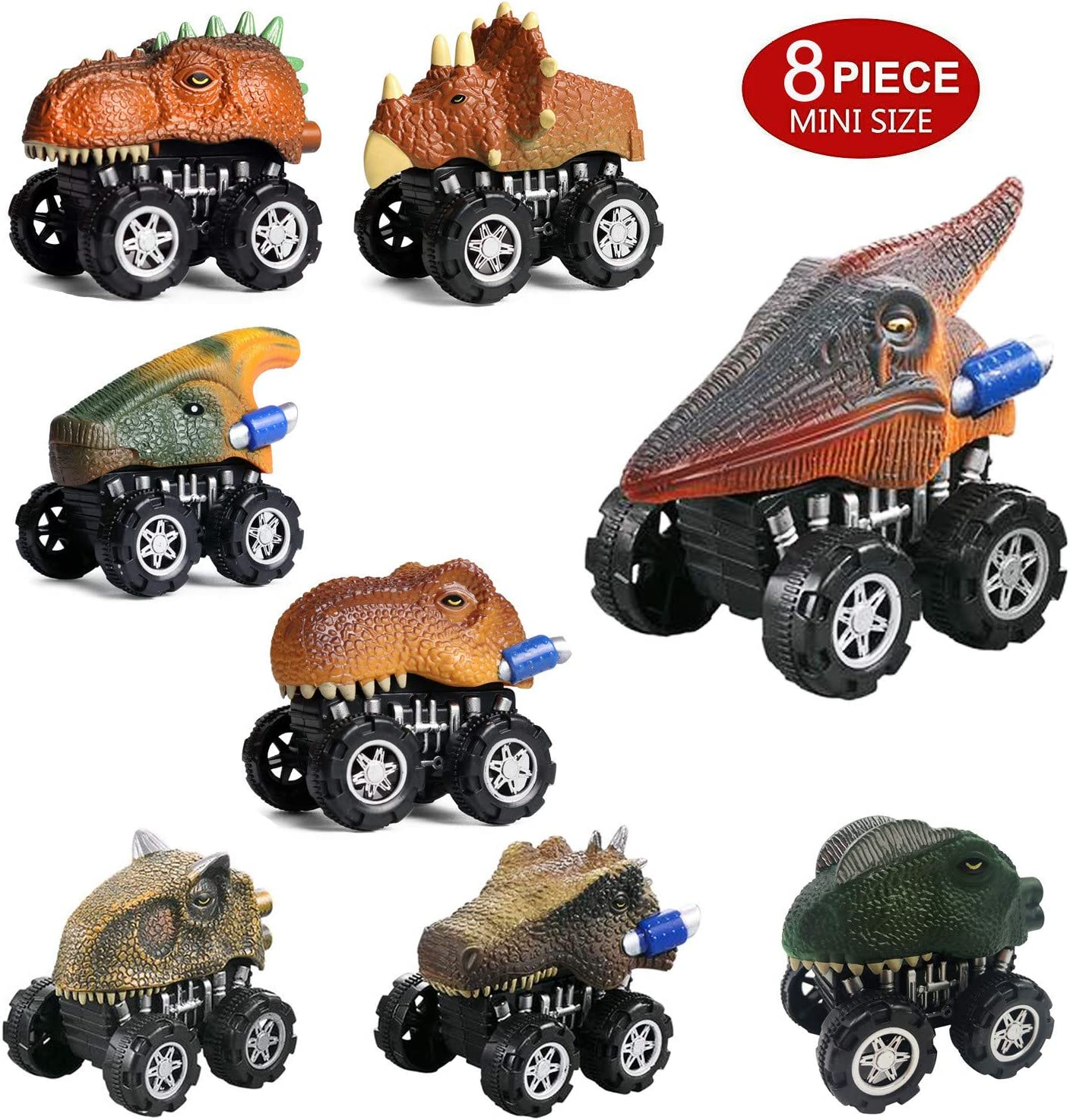 Amazon coupon code for Pull Back Dinosaur Cars 8 Pack Mini Dino Cars