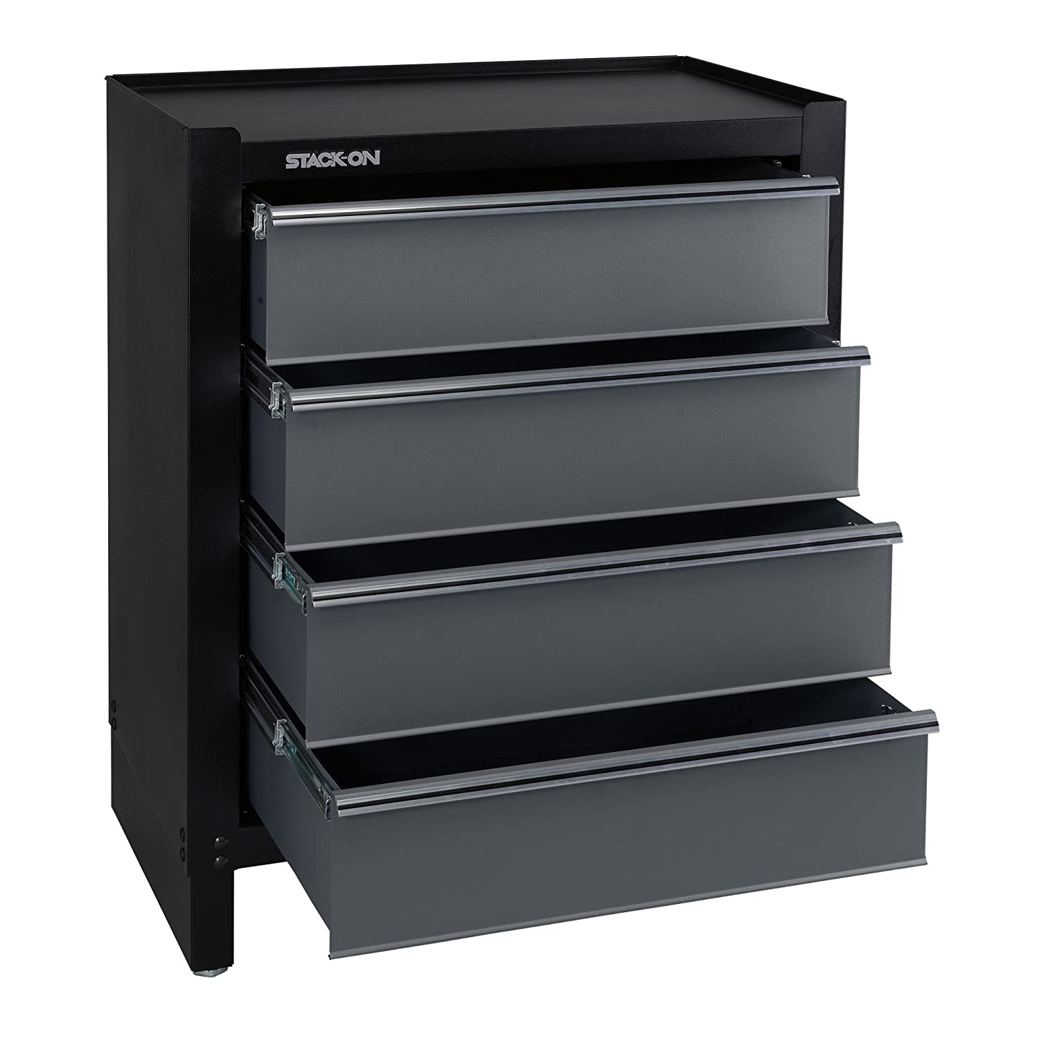 Amazon.com: Stack-On AGS-PC-4DR Modular all-steel Assembled Garage Storage  4-Drawer Project Center: Home Improvement