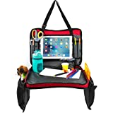 Ultimate Children's 4-in-1 Car Seat Travel Tray | Multipurpose Detachable Backseat Storage Organizer for Kids | Carry Bag, Lap Desk, Activity Station & iPad/Tablet Viewer | Large & Sturdy Surface