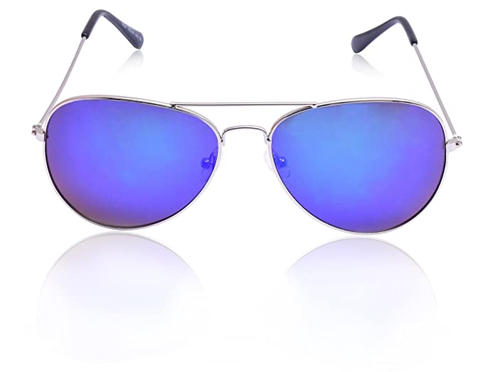 7c40f871cbd5 RazMaz Aviator Classic Bright Blue Sunglass with UV400 for Girls RZ2105