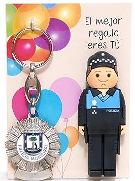 USB POLICIA Municipal de 16gb. con Llavero Placa DE POLICIA ...