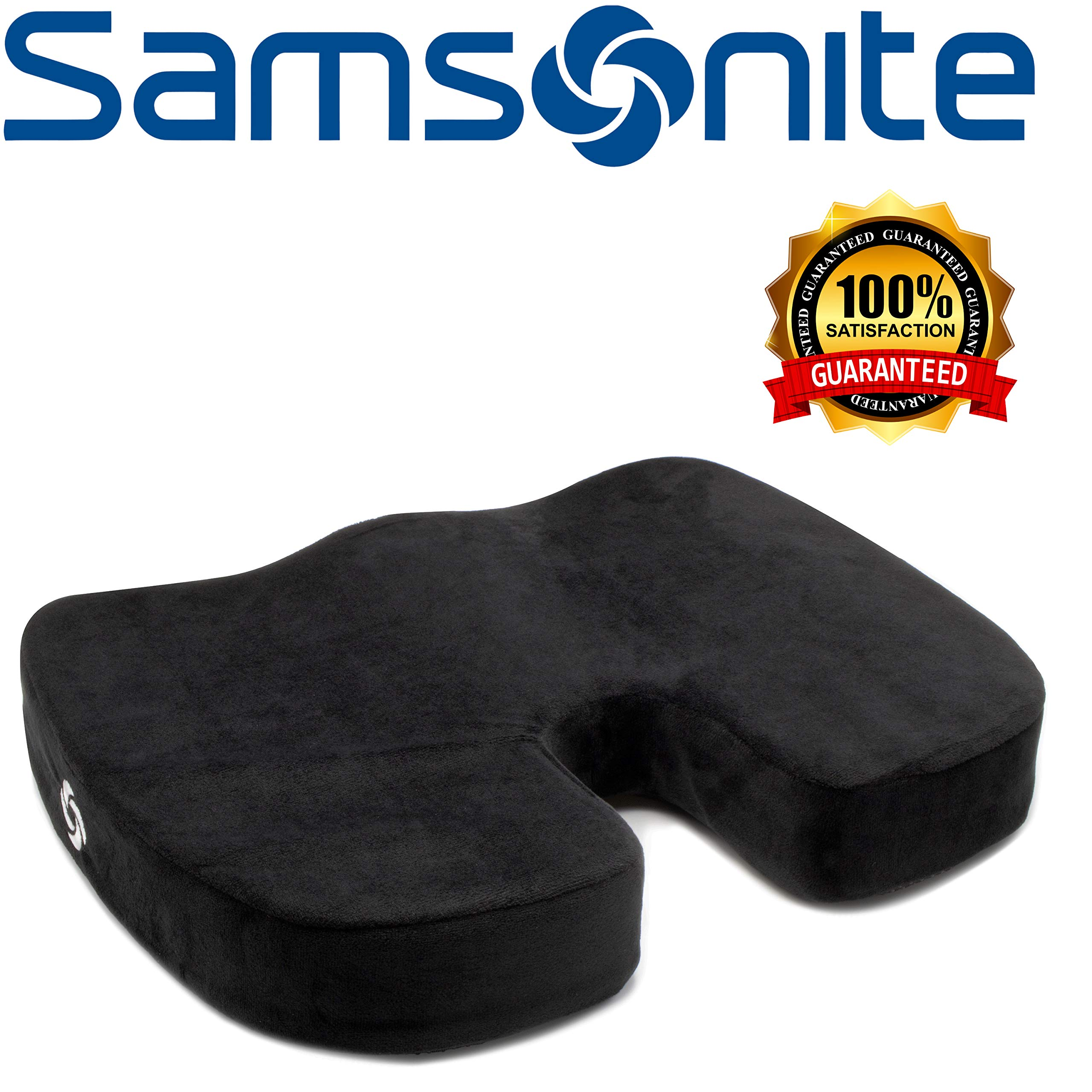 Samsonite SA5450 Orthopedic Cushion  Helps Relieve Pain  100% Pure Memory Foam  Fits Most Seats
