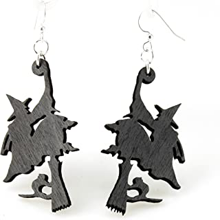 product image for Witch on Broomstick Earrings