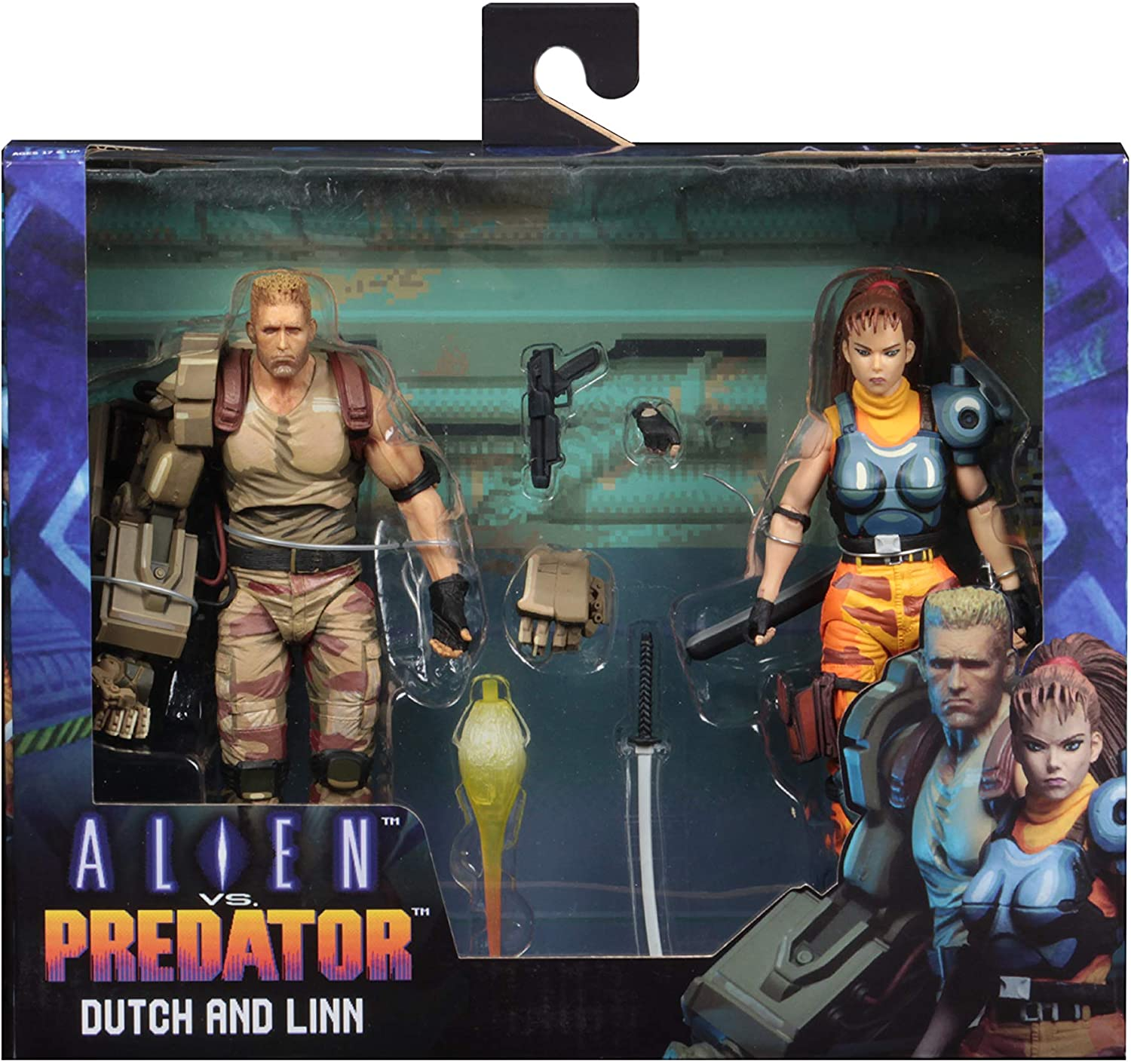 NECA Figura Dutch & Linn 18 cm. Alien vs. Predator 1994: Amazon.es: Juguetes y juegos