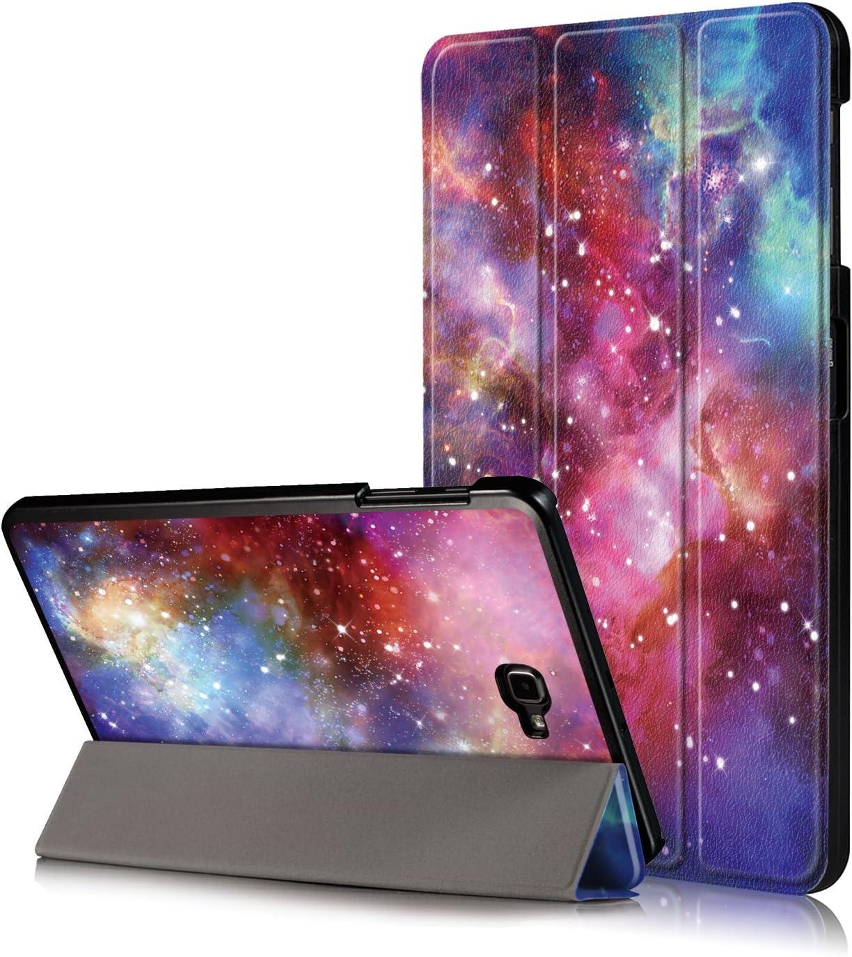 Xuanbeier Funda Compatible con Samsung Galaxy Tab A 10.1 SM-T580 T585 (Tab A6) con Soporte Función Auto-Sueño/Estela,Galaxy