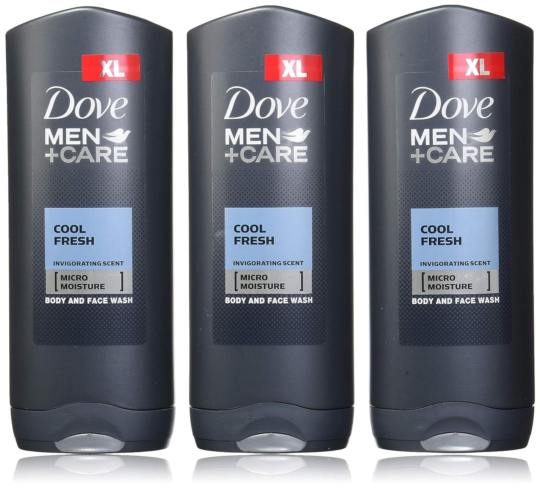Amazon Com Dove Men Care Body Face Wash Cool Fresh Pack Of 3 13 52 Fl Oz 400 Ml Each Beauty